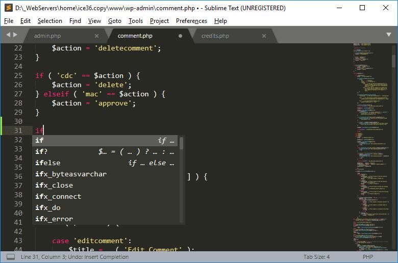 Автозавершение кода
